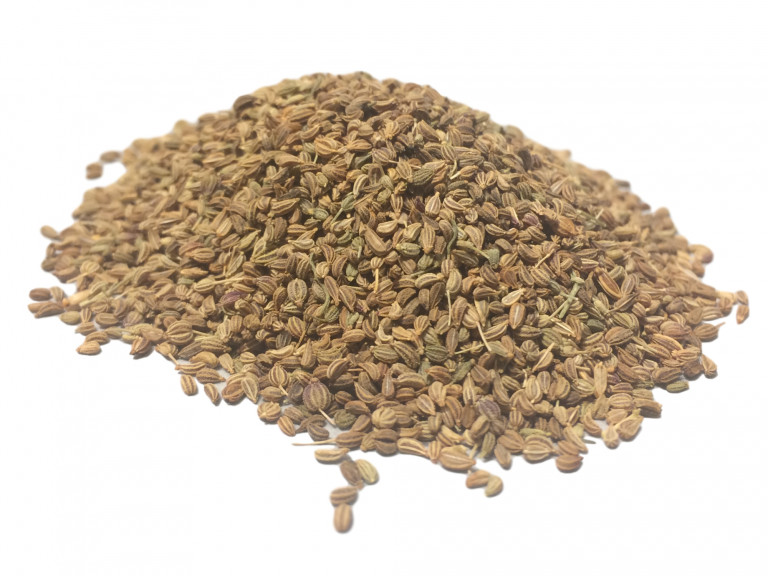 a mound of carom, or ajwain, seeds