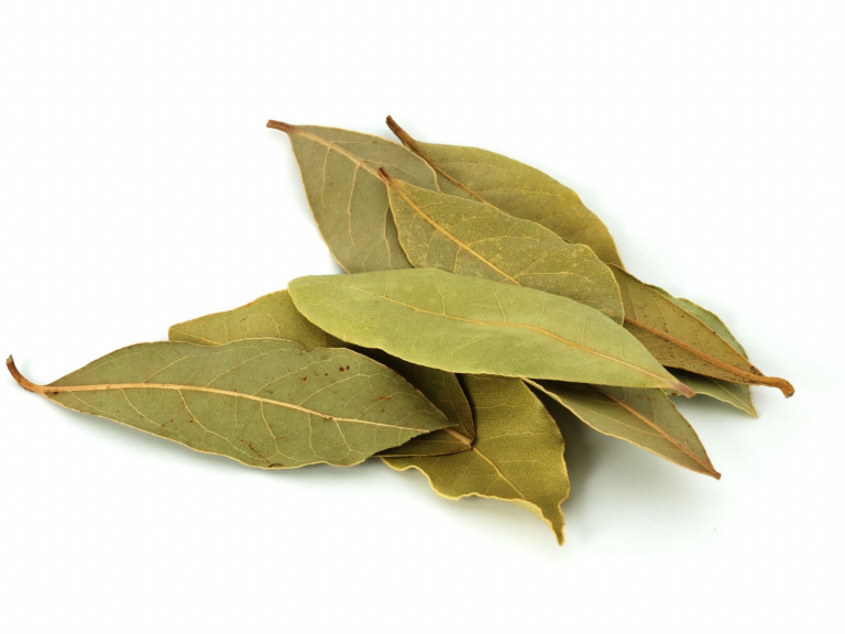 a small stack of bay leaves