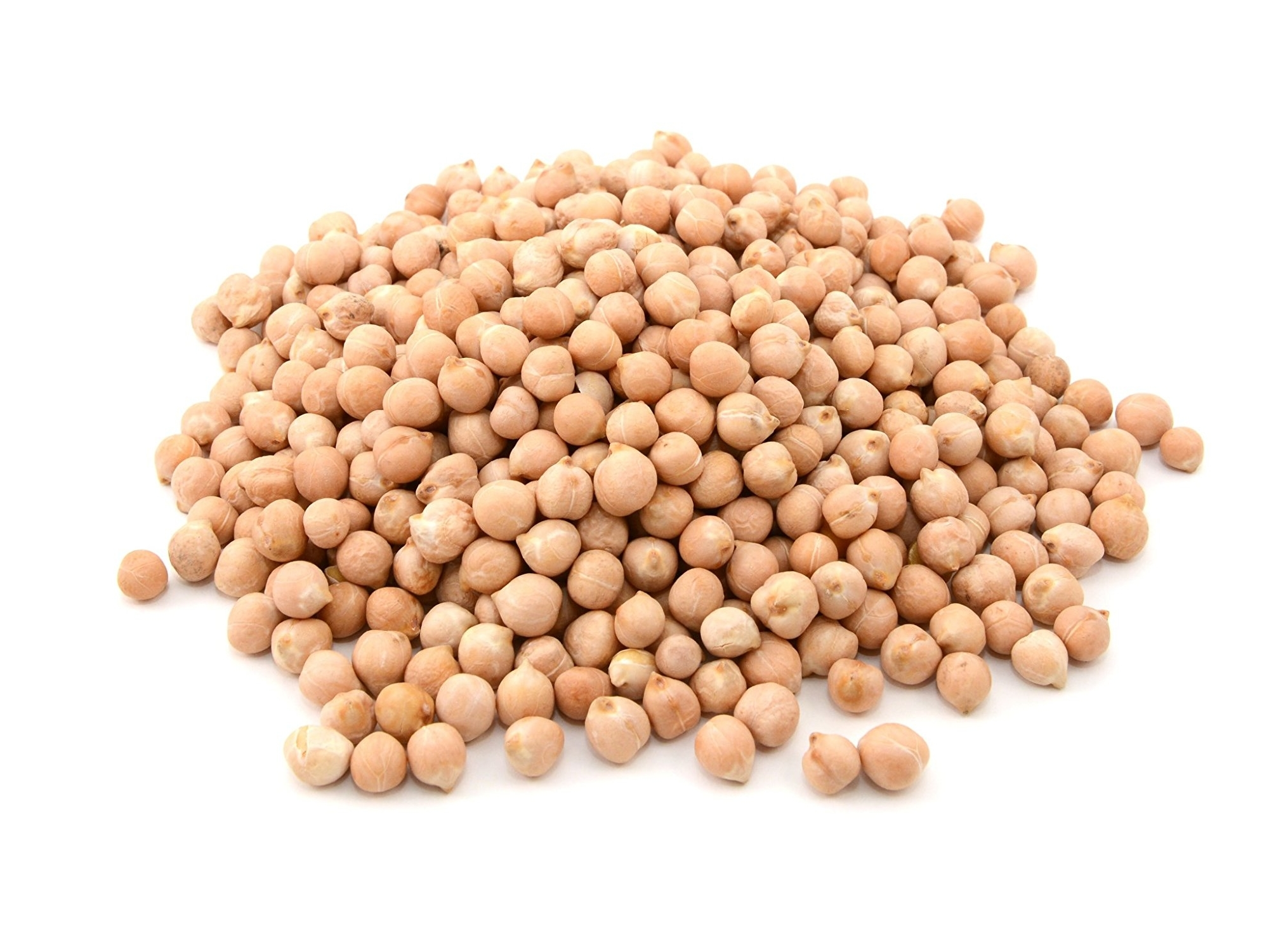 a small mound of dried chickpeas