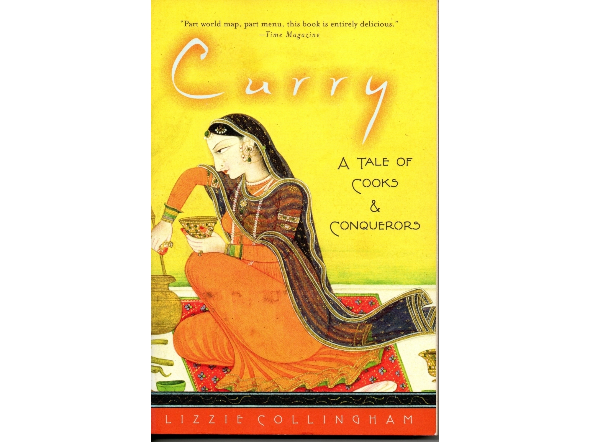 The cover of Lizzie Collinham's Curry