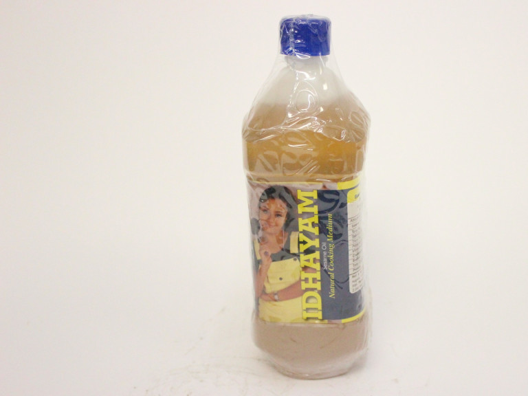 a bottle of gingelly oil