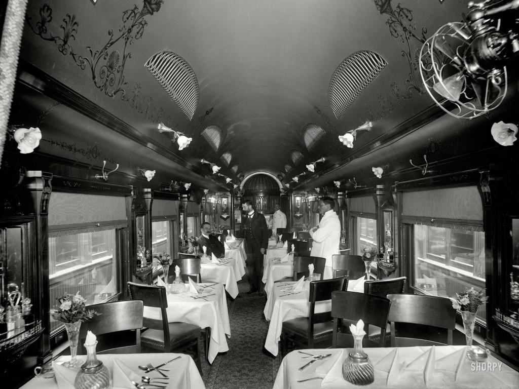indian railway dining car - ca 1930