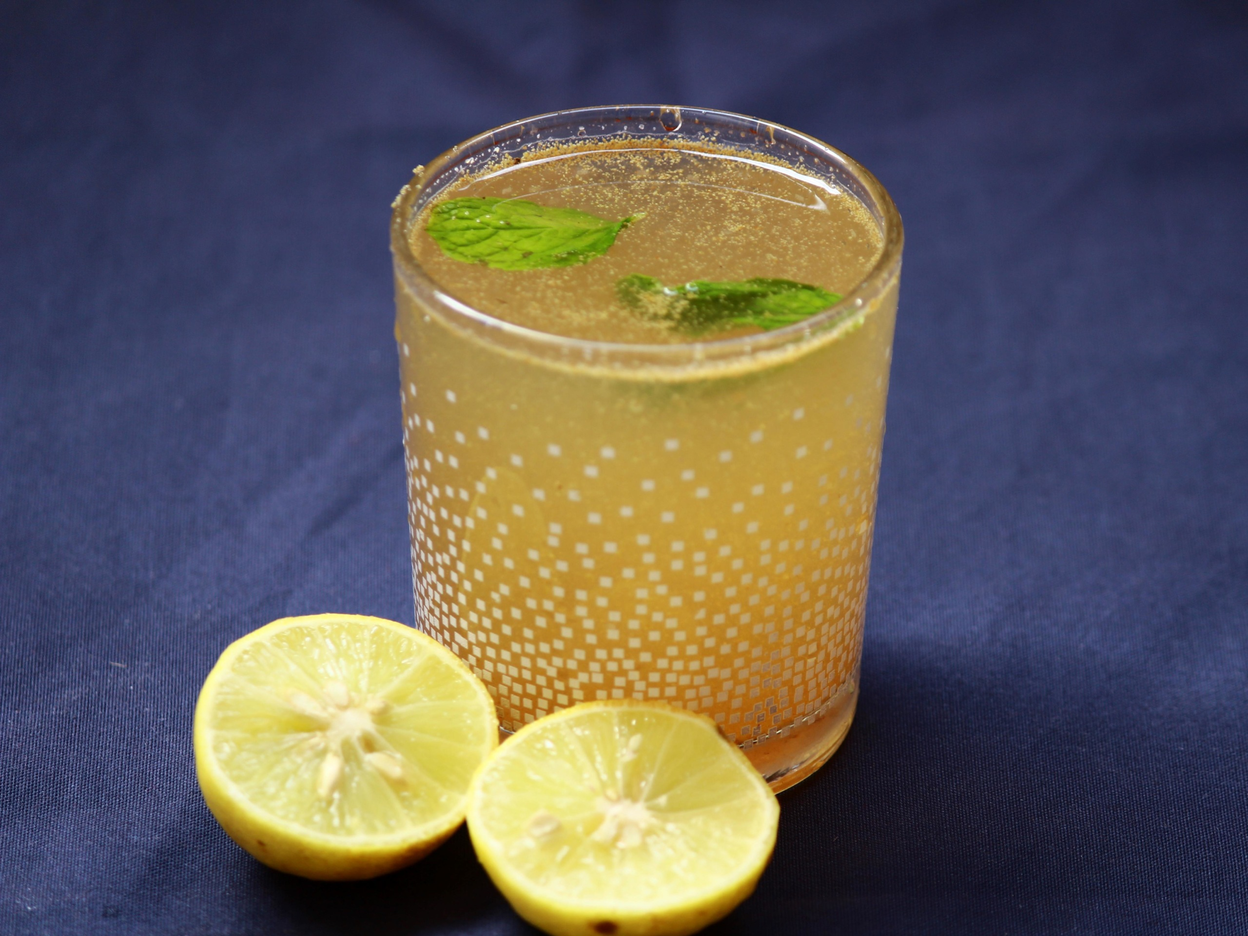 a glass of masala lemonade