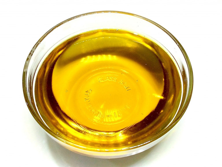 a bowl of mustard oil