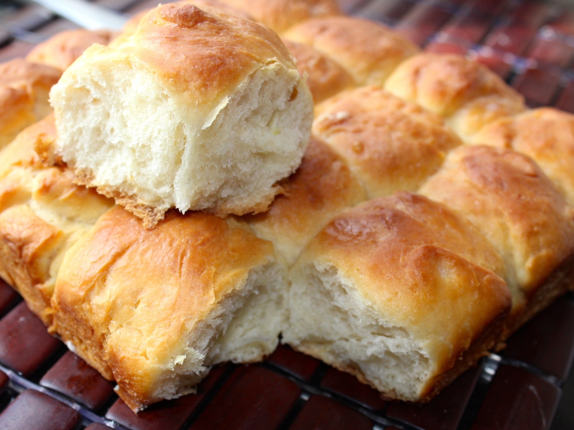 a baking tray of Indian pav, or bread rolls