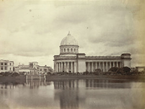 the calcutta post office from across the tank
