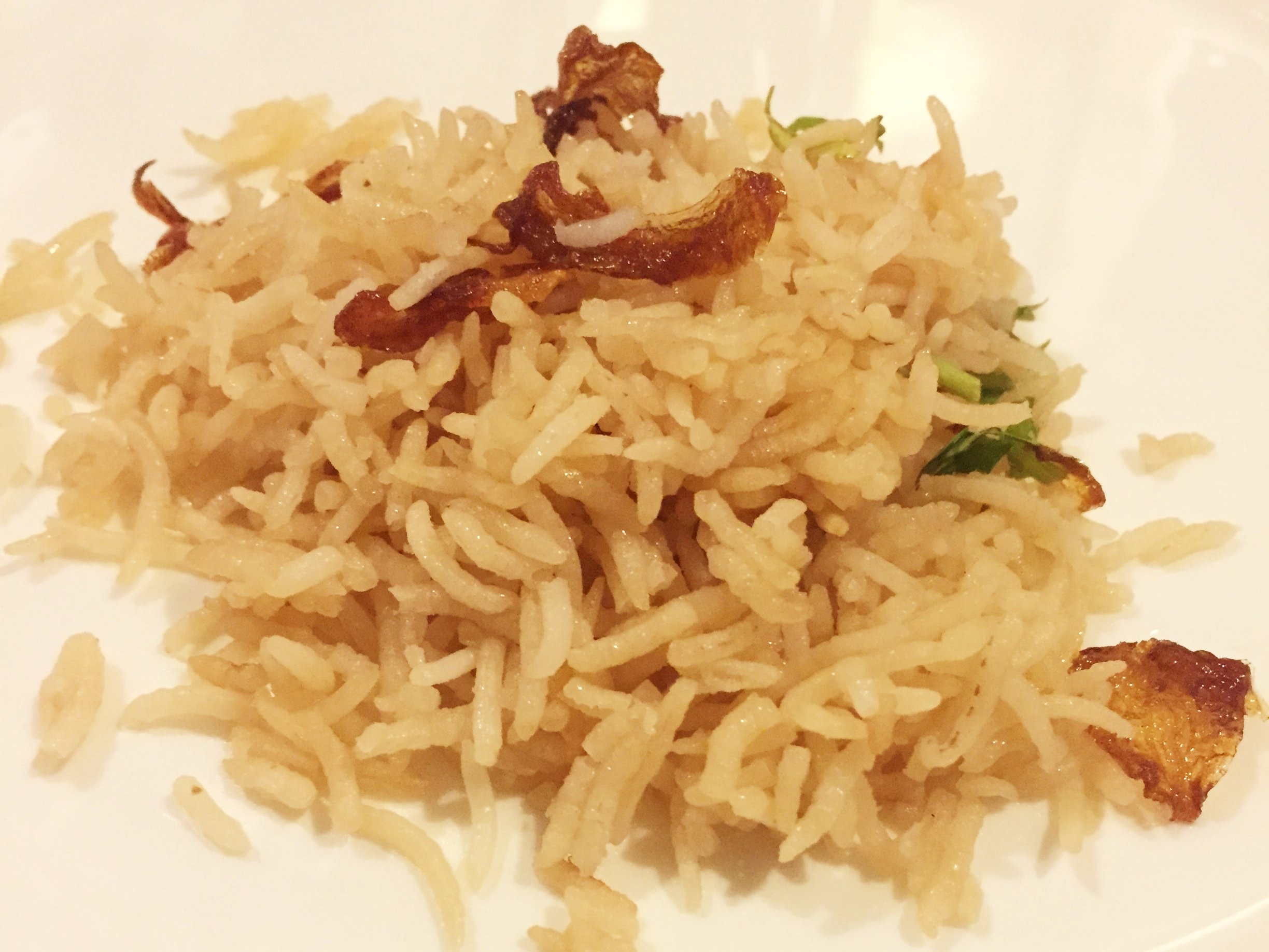 a small serve of Parsi brown rice