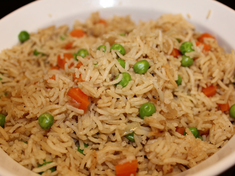 a plate of Bengali fried rice